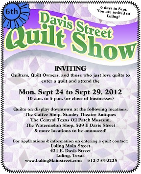 Image of Quilt Show Flyer 2012