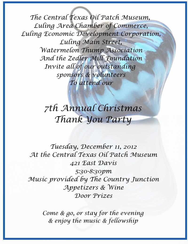 Holiday Thank You Party | Luling Main Street